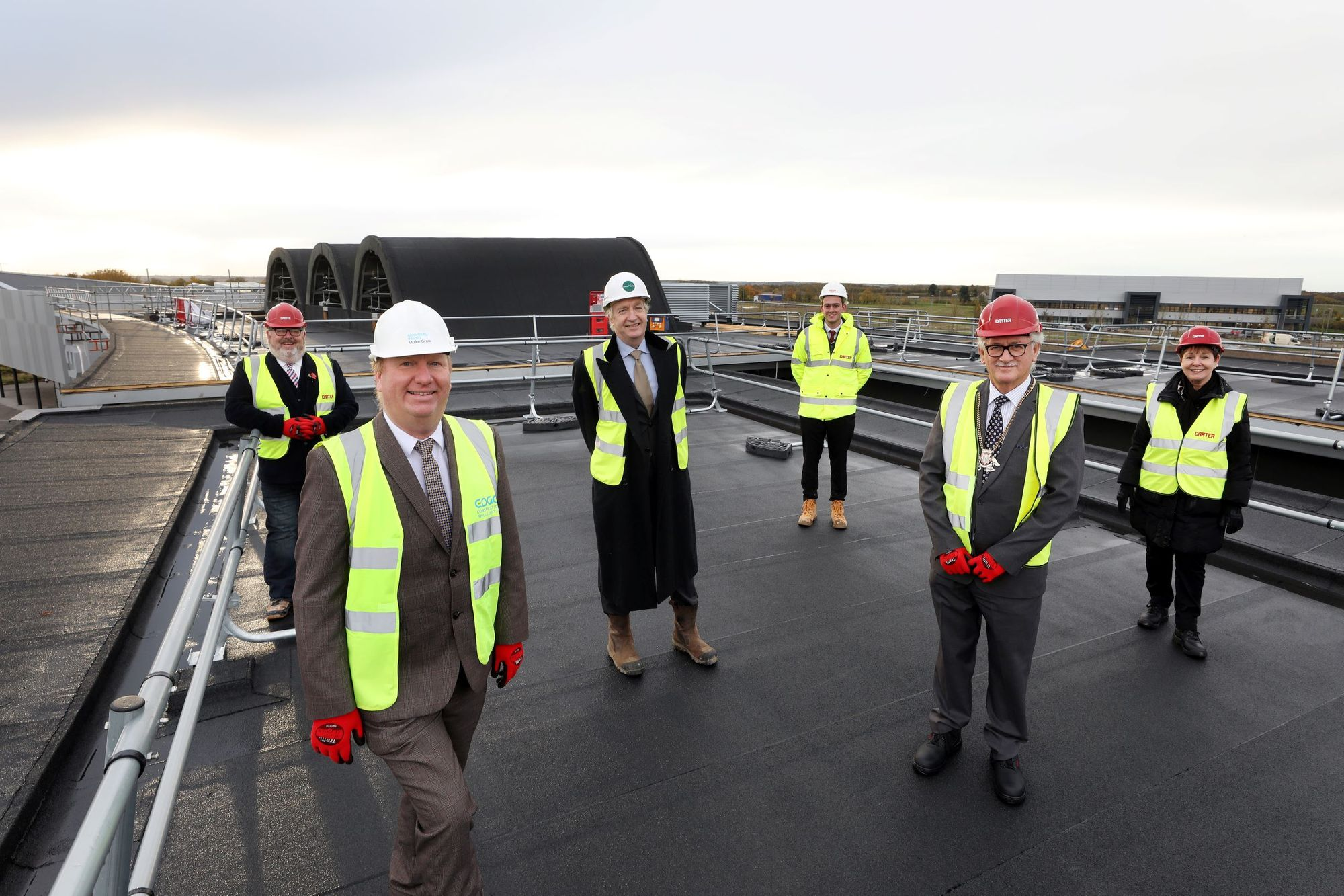 Topping out ceremony marks major milestone for County Council HQ move to Alconbury Weald