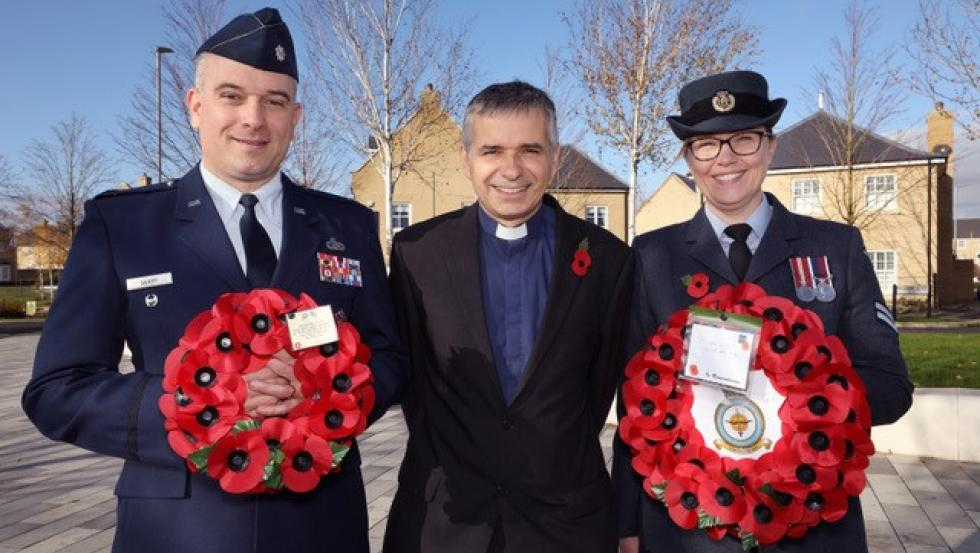 Alconbury Weald community gathers for Remembrance Sunday service
