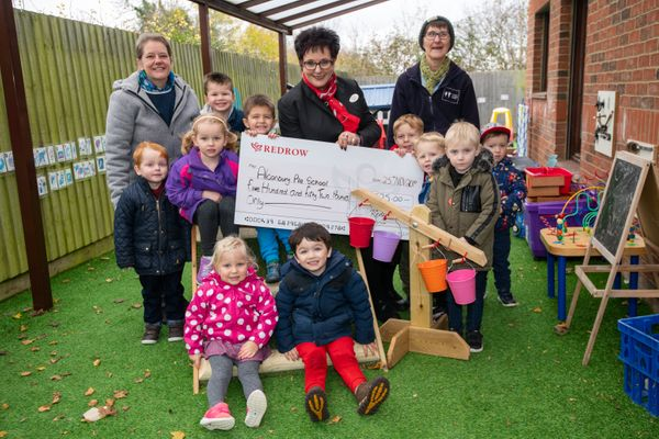 Huntingdon housebuilder helps local school climb up the ladder