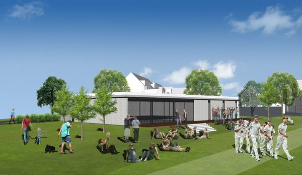 Plans for Alconbury Weald Cricket Pavilion and Community Centre approved
